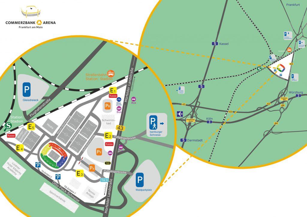 Anfahrtsskizze CoBa-Arena